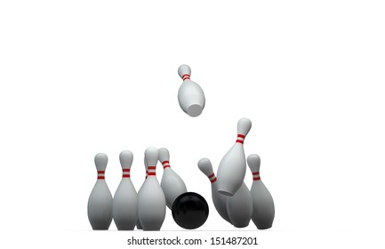 bowling pin isolated on white background