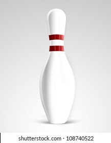 Bowling pin on gradient background