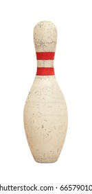Bowling pin on white background