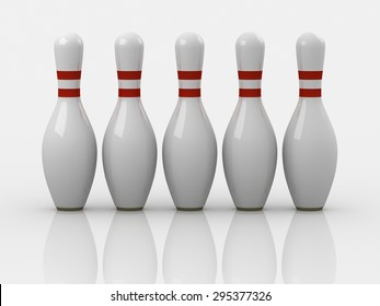 Bowling pin , This is a computer generated and 3d rendered picture.