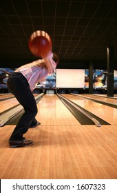 Bowling Sport - Player in Action - Motion and Movement