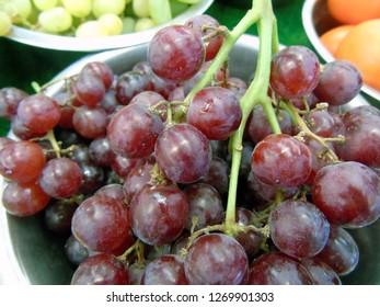 Bowls of grapes
