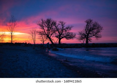 Bowmanville Sunrise filled with splashes of colours and silhouettes