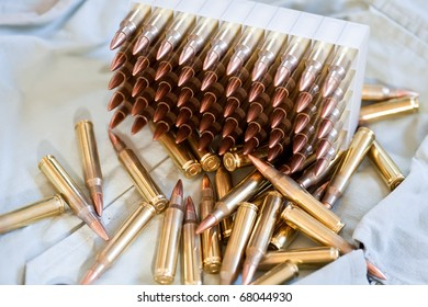 Box of .223 caliber ammo