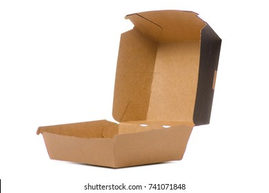 Box for a burger on a white background isolation
