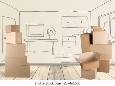 Box, Cardboard Box, Moving Office.