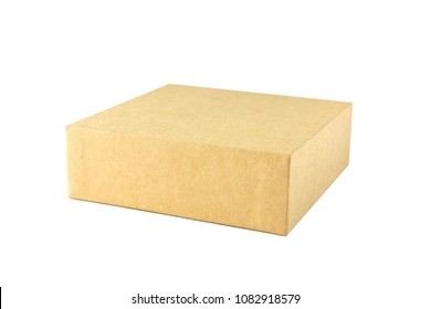 Box of cardboard on white background. Brown box of cardboard isolated on white background.