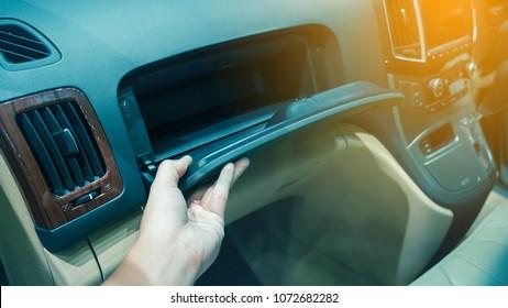 Box Car.Documents on car in box.