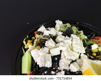 box cheese salad background unit isolate