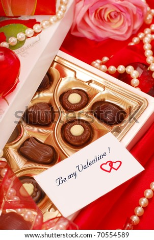 Box Chocolates Love Card Valentines Day Stock Photo Edit Now