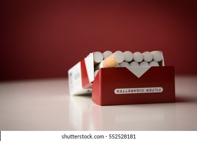 Box of cigarettes isolated