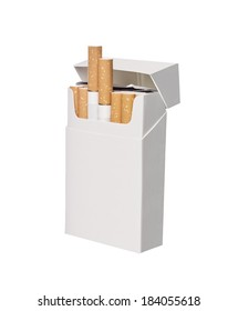Box of cigarettes isolated on white background