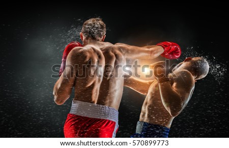 Box fighters trainning outdoor