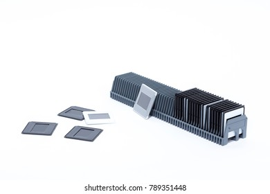 Box with Filmstrip on white background