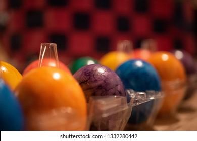 box full of easter eggs