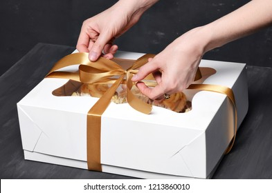 Box with a gift of sweets