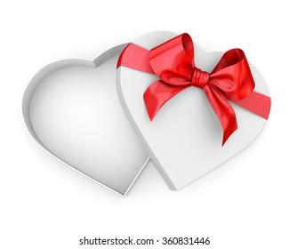 box in heart shape with bow