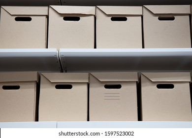 Box with lid, office boxes and folders for storing documents and files