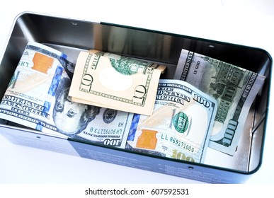 A box with money