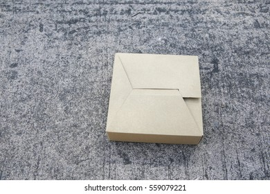 box on the cement background