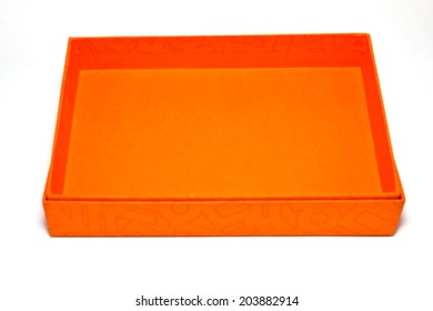 box on paper background