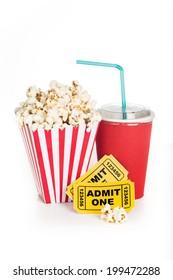 Box of Popcorn Isolated