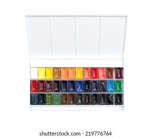 box of professional water-color paint
