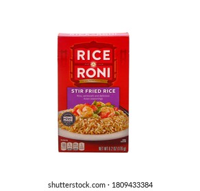 A box of Rice a Roni Stir Fried Rice Isolated on White for Illustrative Editorial