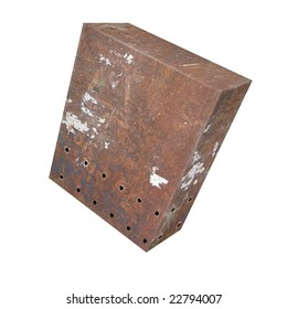 Box of rusted iron