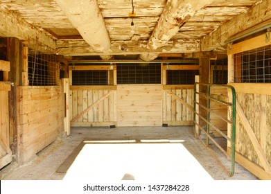 Box stalls in barn for horses old style barn.