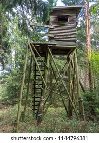 Box stand at a glade in Tiefental in the Lüneburg Heath