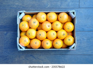 Box of sweet clementines