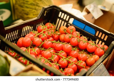 A box of tomatoes