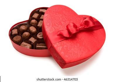a box of Valentine's chocolate