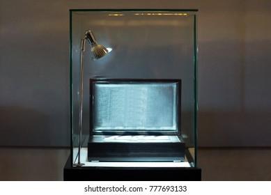 Box in window display