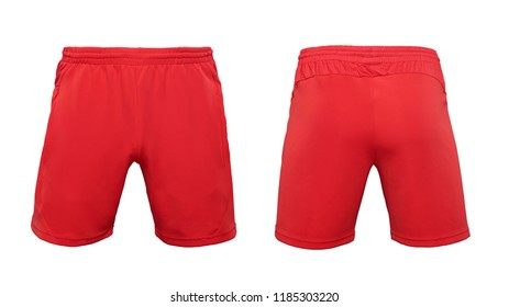 Boxer short red pants isolated on white background