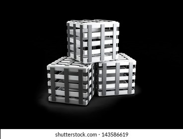 boxes isolated on black