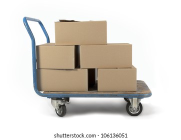 Boxes on a trolley