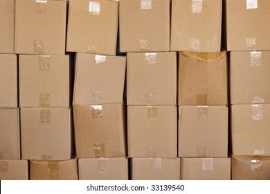 boxes stacked up solated over a white background