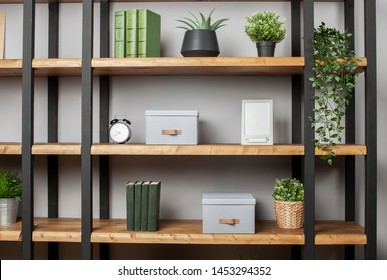 Boxes for storage in the interior of the apartment. Copy space text
