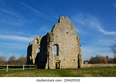 Boxgrove Priory. Taken in the early morning light with good cloud formations in crisp blue sky.