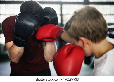 Boxing Boxer Strong Training Workout Exercise Concept