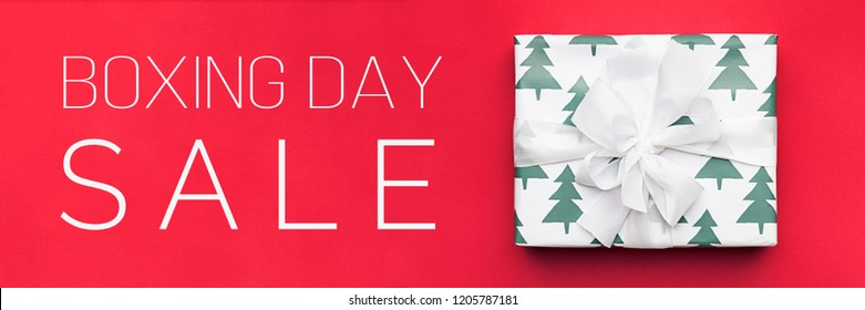 Boxing Day Sale Banner. Christmas Shopping, Offer, Sale Concept.