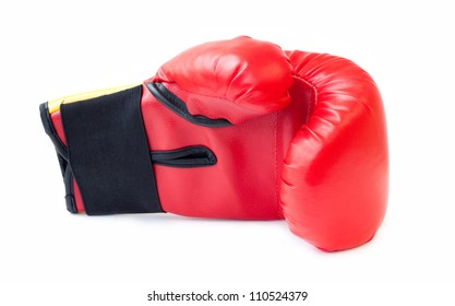 The boxing glove is isolated on a white background