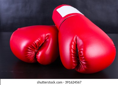 Boxing gloves for boxer with black background