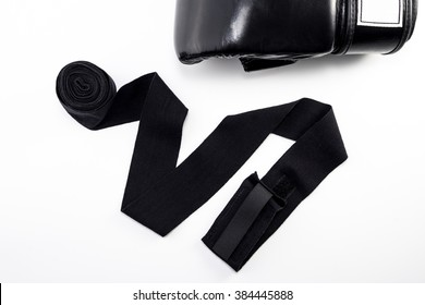 Boxing Gloves with Hand Wraps in White Background