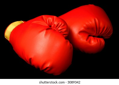 Boxing Gloves Isolated on Black