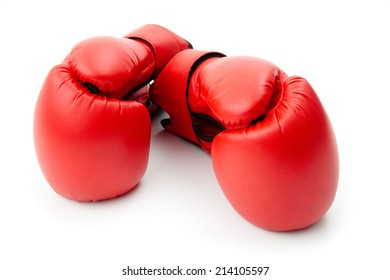 Boxing gloves isolated on white.