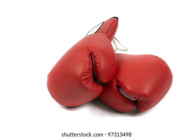 boxing gloves isolated in white