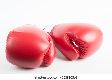 Boxing gloves isolated with white background.